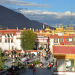 Tibet, Lhasa, buddist's temple Jokhang — Stock Photo