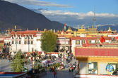 Tibet, Lhasa, buddist's temple Jokhang — Stock Photo