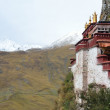 Tibet, the Himalayas, monastery Drag Verpa in the caves. — Foto de Stock