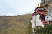 Tibet, the Himalayas, monastery Drag Verpa in the caves. — Foto Stock