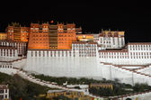 Tibet, the Potala Palace in Lhasa, the residence of Dalai Lamas at night — Stock Photo