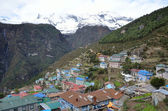 Nepal, the Himalayas, Namche Bazar in the Khumbu Valley — Stock Photo