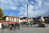 Tibet, Lhasa, first Buddhist temple in Tibet, the Jokhang — Stock Photo