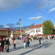Tibet, Lhasa, first Buddhist temple in Tibet, the Jokhang — Stock Photo