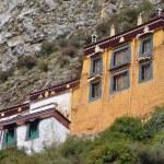 Tibet, Himalayas, ancient monastery Drag Verpa in caves near Lhasa. — Stock Photo #35773129