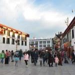 Tibet, China, Lhasa, October, 04,2013. People walking on ancient Barkor street — Stock Photo #35773147