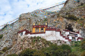 Tibet, the Himalayas, monastery Drag Verpa in the caves. — Stockfoto