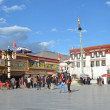 Stock Photo: Tibet, Lhasa, first Buddhist temple in Tibet, Jokhang