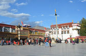 Tibet, Lhasa, the first Buddhist temple in Tibet, the Jokhang — Stock Photo