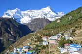Nepal, the Himalayas, Namche Bazar in the Khumbu Valley — Photo
