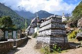 Nepal, the Himalayas, Namche Bazar in the Khumbu Valley — ストック写真