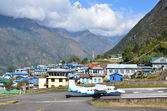Nepal, Lukla airport in the mountains — Stock Photo
