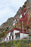 Tybet, klasztor przeciągnij naparstniczka w pobliżu lhasa. — Zdjęcie stockowe