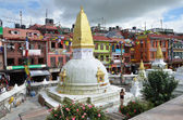 Nepal, Kathmandu, Bodnath temple complex, small stupas around the main stupa (not visible) — Stock fotografie