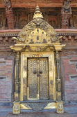 Nepal, Patan, royal palace on Durbar square, golden gate. — Stock Photo