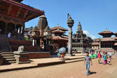 Nepal, Patan, Durbar (Palace) square. — Stock Photo