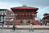 Nepal, Kathmandu, the Temple of Shiva and Parvati on Darbar square. — Stock Photo