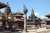 Nepal, Patan, Durbar (Palace) square. — Stock Photo