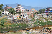 Nepal, Kathmandu, urban development, debris and dirt on the streets — 图库照片