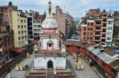 Kathmandu, Nepal, a Hindu temple in histiric center of the city — Stock Photo