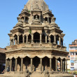 Nepal, Patan, the Stone Temple of Krishna Mandir at Durbar square — Stock Photo