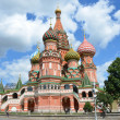 Moscow, St .Basil's Cathedral (Vasily Blajenniy) cathedral on the Red square. — Stock Photo