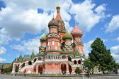 Moscow, St .Basil's Cathedral (Vasily Blajenniy) cathedral on the Red square. — Photo
