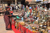 Nepal, Patan, the historic center, trade of souvenirs — Stock Photo