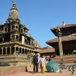 Stock Photo: Nepal, Patan, Stone Temple of KrishnMandir at Durbar square