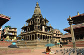Nepal, Patan, the Stone Temple of Krishna Mandir at Durbar square — Stock Photo