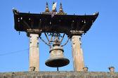 Nepal, Patan, a large ceremonial bell at Durbar square — Foto de Stock