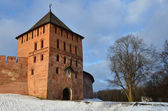 Torre di vladimirskaya al cremlino di novgorod — Foto Stock