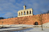 Veliky Novgorod, bell tower of Sofiysky cathedral in the kremiln — Foto Stock