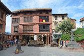 Nepal, Kathmandu, buddist complex on the Svayambunath hill — Stock Photo