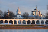 Russia, Novgorod, Yaroslav's Court in winter — Stock Photo