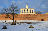 Novgorod, bell tower of Sofiysky cathedral in the kremlin — Stock Photo