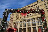 """Christmas Moscow, hotel """"Moscow"""" at the Manege square — Stock Photo"""