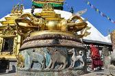 Nepal, Kathmandu, stupa Swayambunath (monkey hill) — Stock Photo