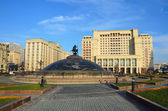 Moscow, Manezhnaya square — Stock Photo