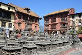 Nepal, kathmandu, swayambhunath buddhistische komplex (monkey hill) — Stockfoto
