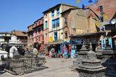 Nepal, Kathmandu, Swayambhunath buddist complex (Monkey Hill) — Stock Photo