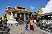 Nepal, kathmandu, swayambhunath budista complexa (morro do macaco) — Fotografia Stock