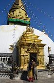 Nepal, Kathmandu, Swayambhunath buddist stupa — Stock Photo