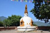 Nepal, Kathmandu, Swayambhunath temple complex (Monkey Hill), one of the small stupas — Stock Photo