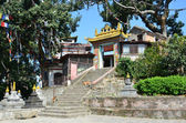 Nepal, Kathmandu, Swayambhunath temple complex (Monkey Hill), one of the monasteries — Stock Photo