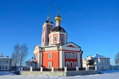 Trinity cathedral in Varnitsky monastery in Rostov in winter, Golden ring of Russia — Stock Photo