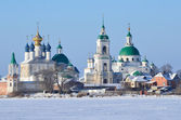 Spaso-yakovlevsky Dimitriev monastery  in Rostov in winter — Zdjęcie stockowe