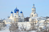 St. Bogolubsky monastery in Bogolubovo, Vladimir region in winter, Golden ring of Russia — Stock Photo