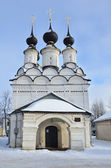 Lazarevskaya Church in Suzdal in winter, Golden ring of Russia — Stock Photo