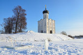 Vladimir, an ancient church of the Intercession (Pokrova) on the Nerl in winter, Golden ring of Russia — Stock Photo